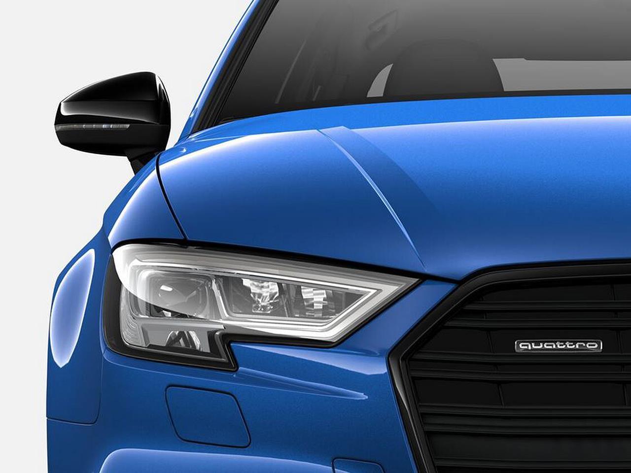 2021 Audi S3 Black Rear Lip Spoiler and Mirror Cap Kit ...